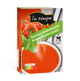 Tomaat-basilicumsoep